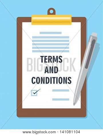 terms and condition agreement contract vector illustration