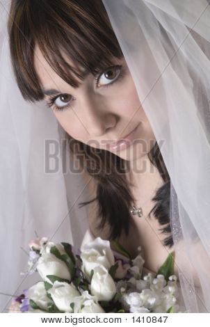 Bridal Portrait Looking At Camera