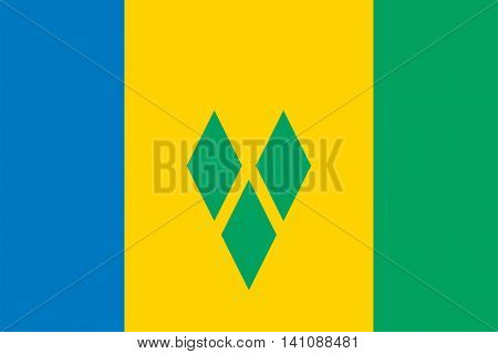 Vector Saint Vincent and the Grenadines flag