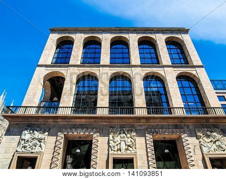 High dynamic range HDR Arengario Museo del Novecento in Milan Italy poster
