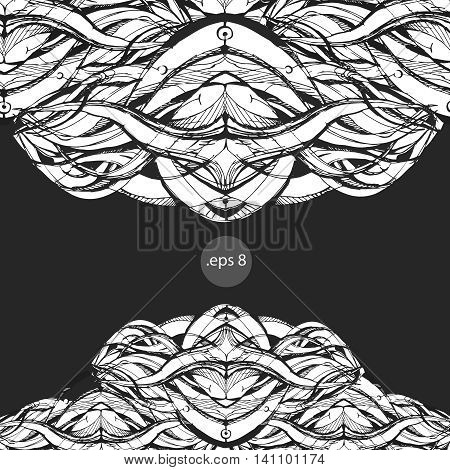 vector graphics, illustration for books, cards, tattoos, print on a T-shirt, sketch, smooth lines, space abstraction