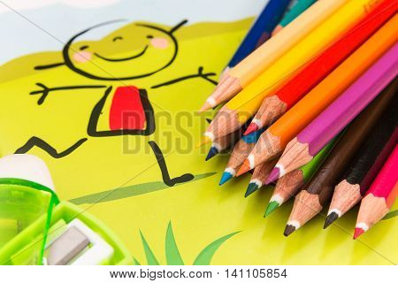 New colored pencils for boarding primary school