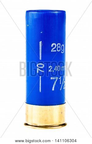 Blue Shotgun Shell Isolated