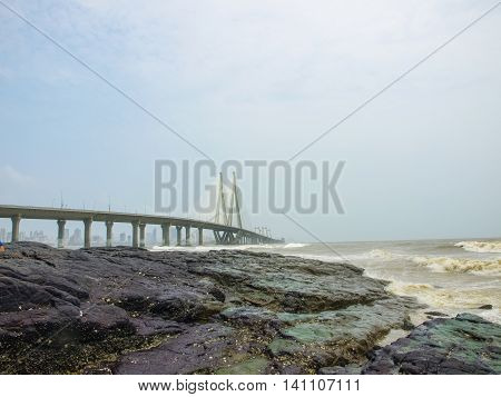 The Bandra-worli Sea Link, Officially Called Rajiv Gandhi