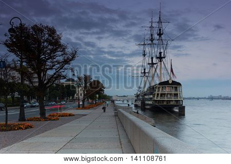 The Grace of the frigate, the ship restaurant, Saint Petersburg, Russia