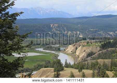 Railway route in the Invermere ranch lands