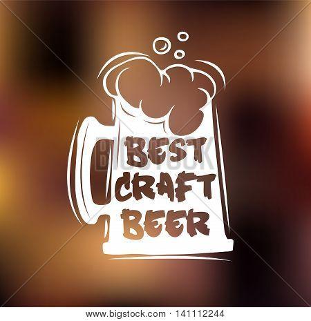 Oktoberfest 2016 beer festival. Best craft beer. Handmade Typographic Art for Poster Print Greeting Card T shirt apparel design, hand crafted vector illustration.Vector illustration.