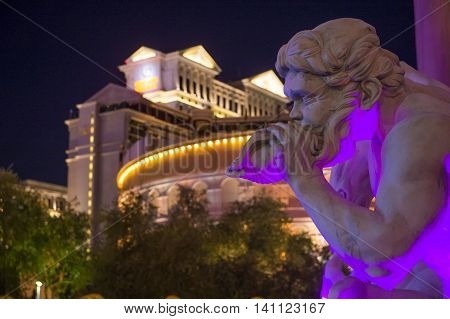 LAS VEGAS - MAY 21 :The Caesars Palace hotel on May 21 2016 in Las Vegas. Caesars Palace is a luxury hotel and casino located on the Las Vegas Strip. Caesars has 3348 rooms in five towers