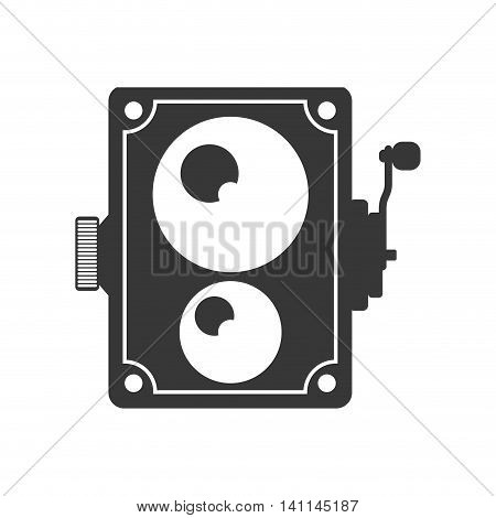 Videocamera technology retro vintage icon. Isolated and flat illustration. Vector graphic