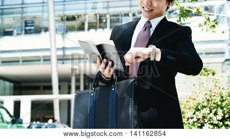 Portrait of businessman outdoors