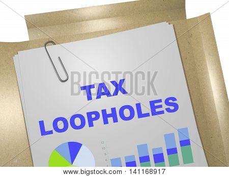 Tax Loopholes Concept