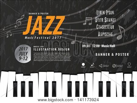 Keyboard, Musical Instrument Design Realistic Style And A4 Poster Music Festival Layout For Commerci