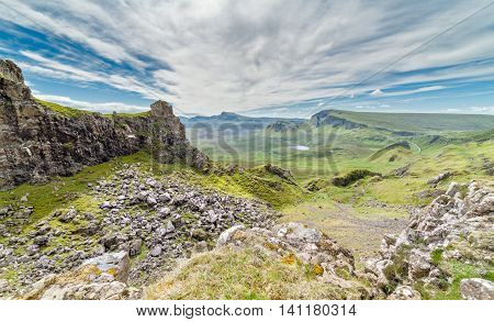 Eroded Slopes of Mountains on the Isle of Skye in Scotland
