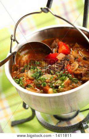 Densest Soup With Vegetables And Meat