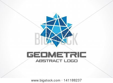 Abstract business company logo. Corporate identity design element. Social media, bfinance, bank logotype idea. Star group, network integrate, technology interaction concept. Color Vector connect icon