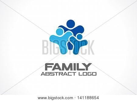 Abstract green logo for business company. Corporate identity design element. Healthcare, Social Media, Network logotype idea. People connect, family of 3, group of three, concept. Colorful Vector icon