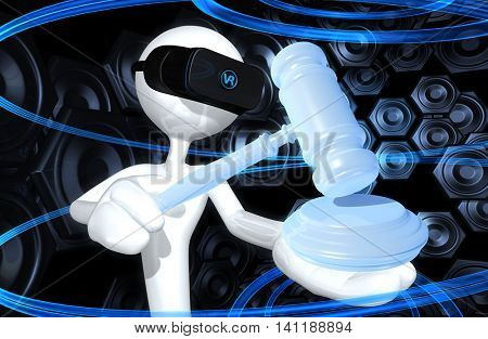 Virtual Reality VR Law 3D Illustration