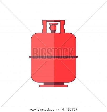 Flammable gas tank icon. Propane butane methane gas tank. Vector illustration