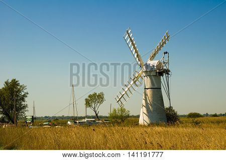Thurne Pump Drainage Mill on the Norfolk Broads