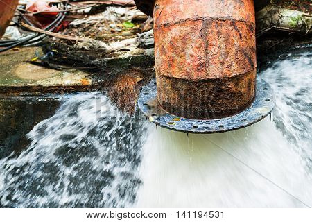 sewer and Waste water from dwellings was released into the canal.