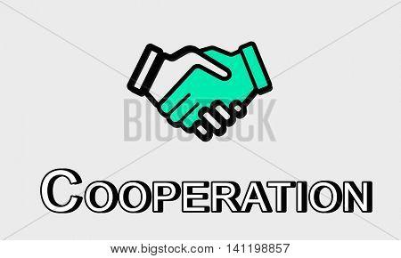 Trust Handshake Partnership Coporation Graphic Concept