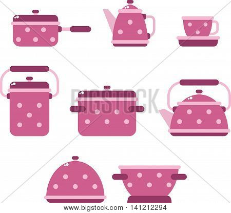 utensils vector illustration,  kitchen background, utensils icons set