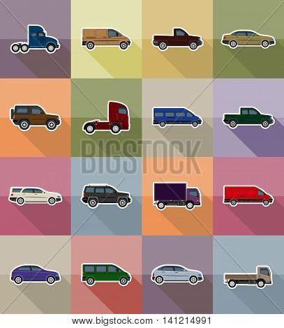 Transport Flat Icons Vector Illustration