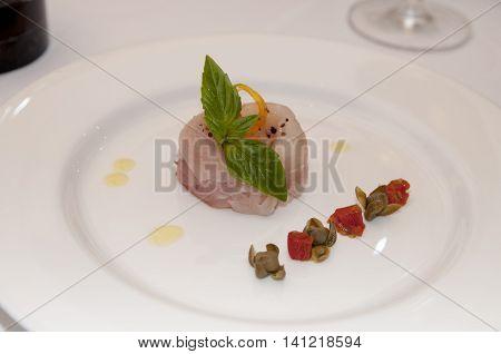 The reataurat food plate luxury design in Thailand