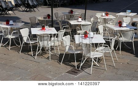 Tables And Chairs Of The European City