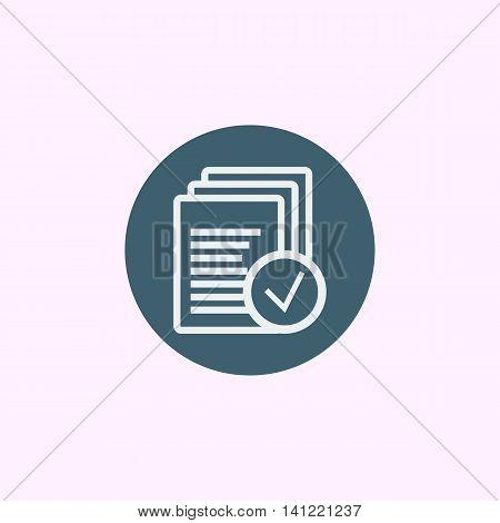 Files Accept Icon In Vector Format. Premium Quality Files Accept Symbol. Web Graphic Files Accept Si