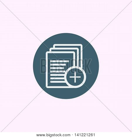 Files Add Icon In Vector Format. Premium Quality Files Add Symbol. Web Graphic Files Add Sign On Blu