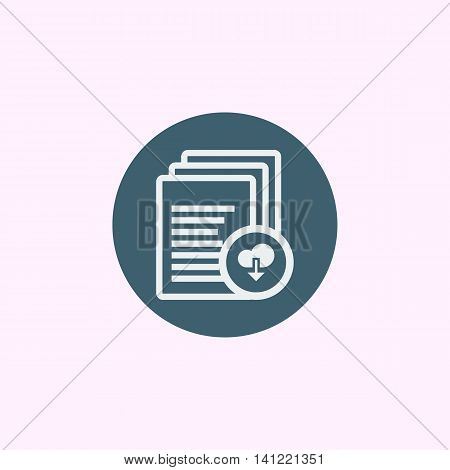Files Download Icon In Vector Format. Premium Quality Files Download Symbol. Web Graphic Files Downl