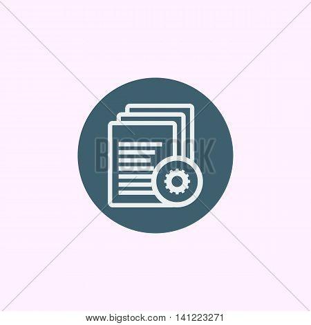 Files Settings Icon In Vector Format. Premium Quality Files Settings Symbol. Web Graphic Files Setti