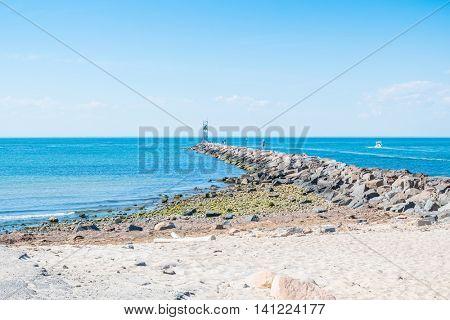 Pier in Montauk, Long Island, US