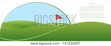 Golf course. Site header and banner design. Vector illustration.