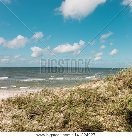great migratory sand dune by the Baltic Sea
