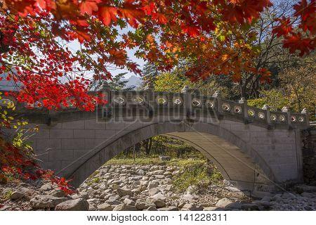 View at Soraksan National Park, South Korea.