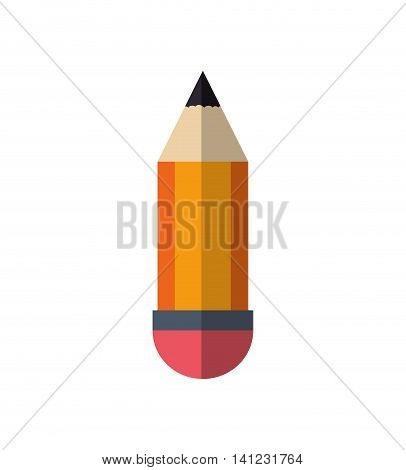 pencil instrument write draw icon. Isolated and flat illustration. Vector graphic
