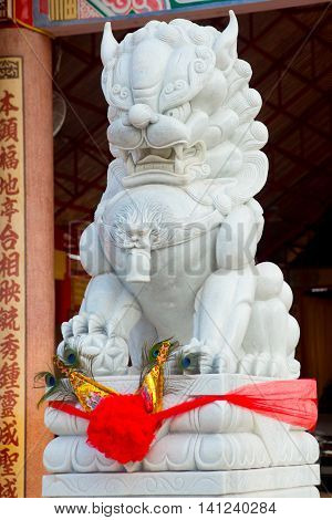 The Monument Of The Animal In Chinese Temple.udon Thani, Thailand