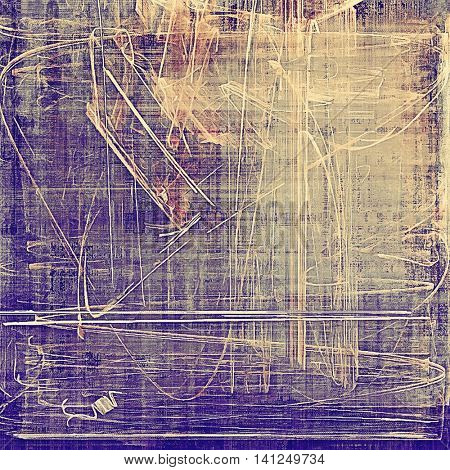Retro design on grunge background or aged faded texture. With different color patterns: yellow (beige); brown; gray; purple (violet); pink