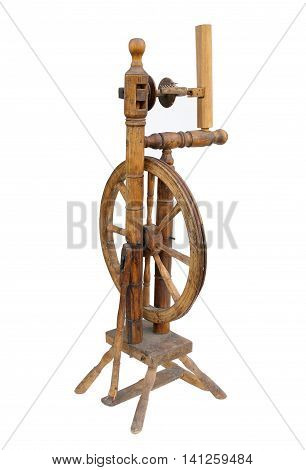 old distaff wood isolated on white background