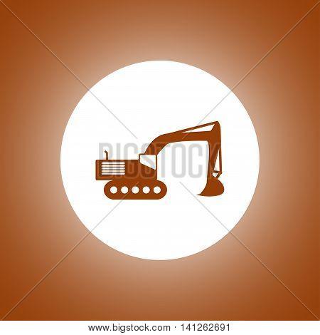 Excavator Icon. Vector Concept Illustration For Design
