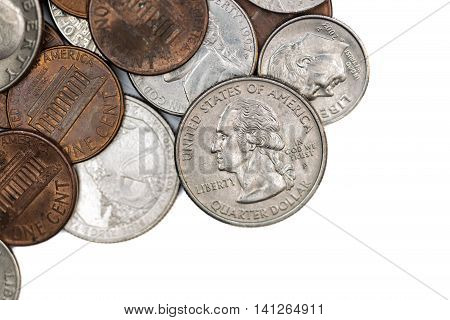 US american dollar coins of all denominations