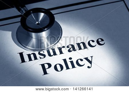 stethoscope and insurance policy concept of contract issue
