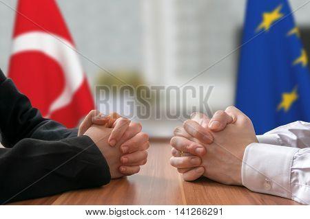 Negotiation Of Turkey And European Union. Statesman Or Politicia