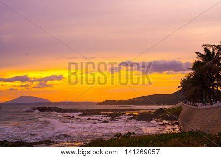 Sea Sunset,vietnam, Mui Ne, Asia