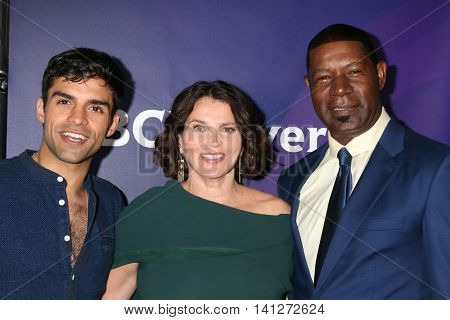LOS ANGELES - AUG 3:  Sean Teale, Julia Ormond, Dennis Haysbert_ at the NBCUniversal Cable TCA Summer 2016 Press Tour at the Beverly Hilton Hotel on August 3, 2016 in Beverly Hills, CA