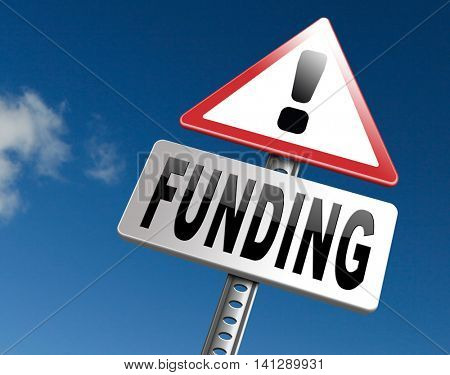 Funding for welfare collection fund raising for charity money donation for non profit organization. 3D illustration