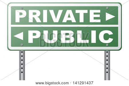 public or private school hospital area property domain or insurance road sign  3D illustration