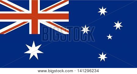 Flag of Australia vector australia star shape illustration national flag